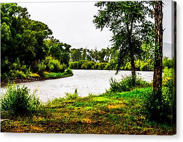 Rio Grande River Canvas Print by George Mick