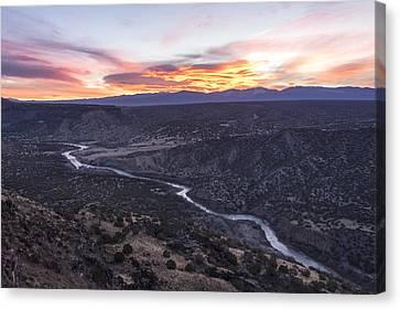 Beautiful Scenery Canvas Print - Rio Grande River Sunrise - White Rock New Mexico by Brian Harig