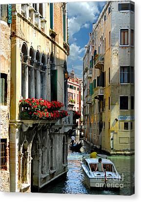 Canvas Print featuring the photograph Rio Menuo O De La Verona. Venice by Jennie Breeze