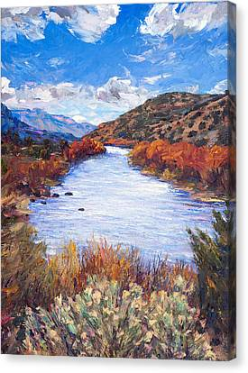 Rio River Bend Canvas Print by Steven Boone