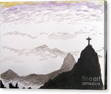 Rio Sunrise Canvas Print by Kevin Croitz