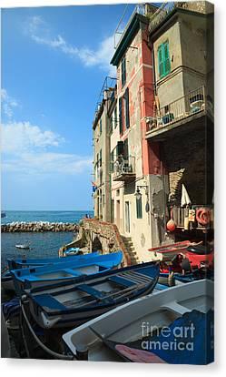 Riomaggiore - Cinque Terre Canvas Print by Matteo Colombo