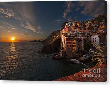 Riomaggiore Peaceful Sunset Canvas Print