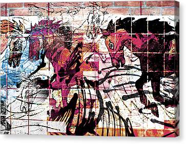 Inner Strength And Will Power  Canvas Print by Arthur BRADford Klemmer