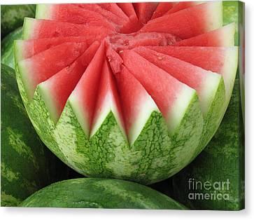 Ripe Watermelon Canvas Print by Ann Horn