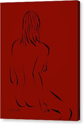 Ripose 1 In Red Canvas Print by Pamela Allegretto