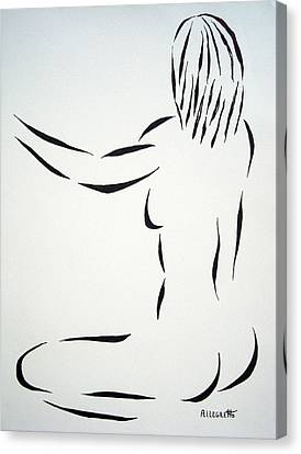 Female Body Canvas Print - Ripose 2 by Pamela Allegretto