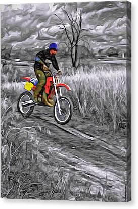 Rippin' - Paint Canvas Print by Steve Harrington