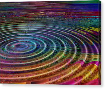 Ripple Fx 4 Canvas Print by Wendy J St Christopher