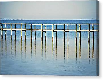Rippled Reflections Canvas Print by Judy Hall-Folde