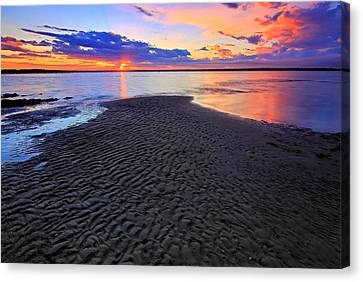 Rippled Sunset Canvas Print by Paul Svensen