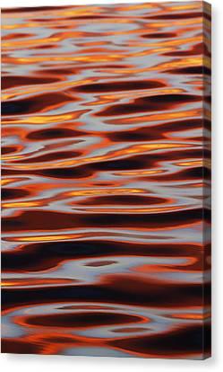 Ripples At Sunset Canvas Print