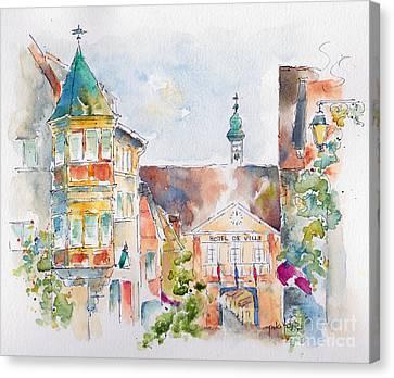 Riquewhir Hotel De Ville Canvas Print by Pat Katz