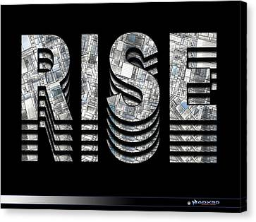 Rise Canvas Print by A Dx