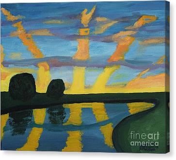 Rise And Shine Canvas Print by Annette M Stevenson