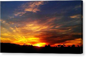 Canvas Print featuring the photograph Rise N Shine by Chris Tarpening