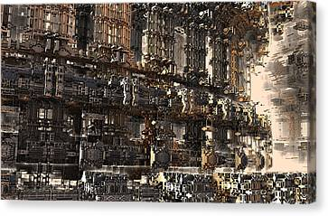 Rise Of The Machine Canvas Print by Hal Tenny