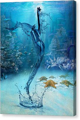 Rise Of The Sea Goddess Canvas Print by Regina  Williams
