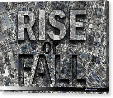 Rise Or Fall Canvas Print