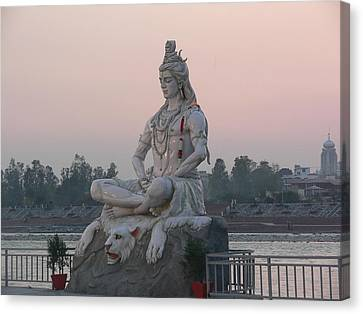 Canvas Print featuring the photograph Rishikesh by Geeta Biswas