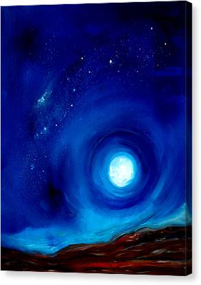 Rising Desert Moon Canvas Print