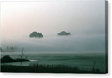 Canvas Print featuring the photograph Rising From The Mist by David Porteus