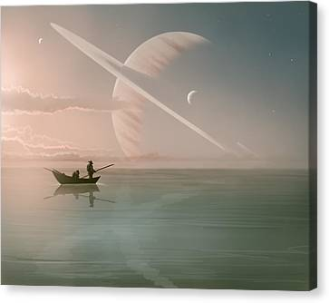 Rising Canvas Print by Mark Zelmer
