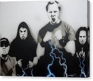 Metallica - ' Rising Metallic Storm ' Canvas Print