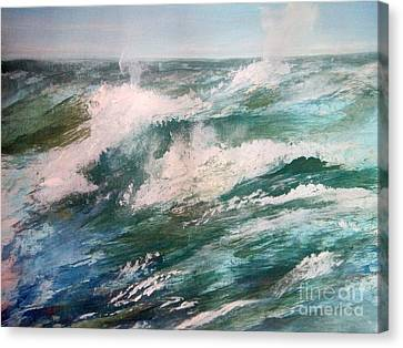 Rising Spume Canvas Print by Trilby Cole