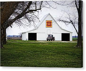 Traditional Quilt Canvas Print - Rising Star Quilt Barn by Cricket Hackmann