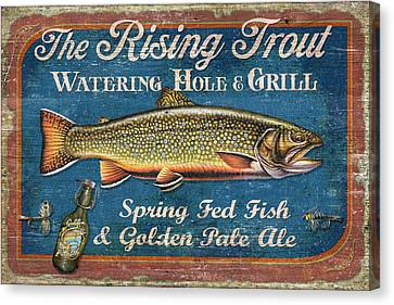 Rising Trout Sign Canvas Print
