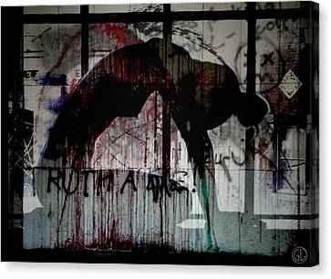 Woman Canvas Print - Rising Up From Misery by Gun Legler