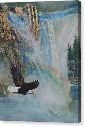 Rising Up With Eagle's Wings 2 Canvas Print