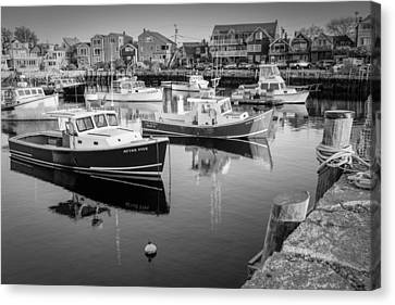 Risky Business After Five Bw Canvas Print by Susan Candelario