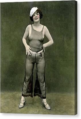 Risque Girl In Sailor Cap Canvas Print