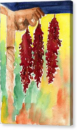 Ristras At Taos B And B Canvas Print