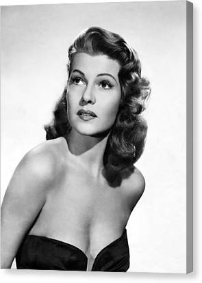 Rita Hayworth Close Up Canvas Print