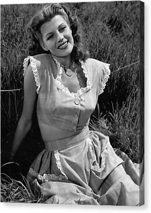 Rita Hayworth Classic Beauty Canvas Print