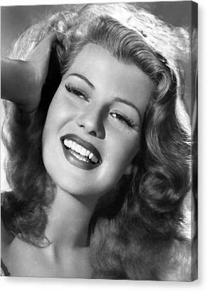 Rita Hayworth Hand In Hair Canvas Print by Retro Images Archive