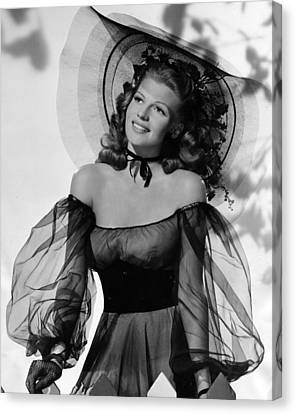 Rita Hayworth In Balck Dress Canvas Print by Retro Images Archive