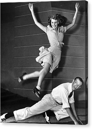Rita Hayworth Jumping Canvas Print