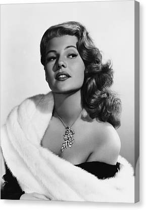 Rita Hayworth, Mid-1950s Canvas Print by Everett