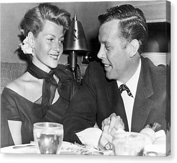 Rita Hayworth Out To Eat Canvas Print