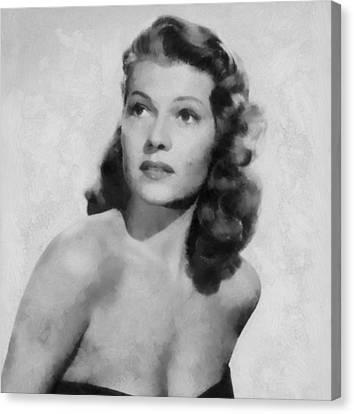 Rita Hayworth Poster Canvas Print by Dan Sproul