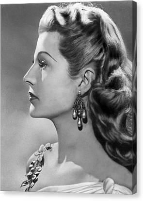 Rita Hayworth Profile  Canvas Print