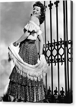 Rita Hayworth Traditional Dress Canvas Print