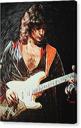 Ritchie Blackmore Canvas Print by Taylan Apukovska