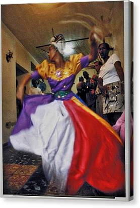 Rites Of Yoruba Canvas Print by Larry Sides