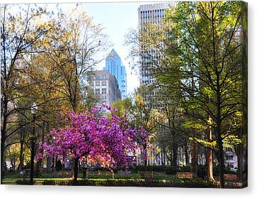 Rittenhouse Square In Springtime Canvas Print by Bill Cannon