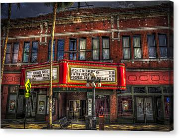 Old Brick Building Canvas Print - Ritz Ybor Theater by Marvin Spates